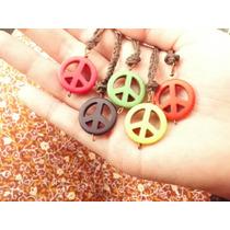 Colar Hippie Com Pingente Do Símbolo Da Paz