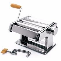 Máquina Macarrão Cilindro Massa Pastel Lasanha Manual Inox