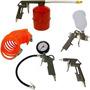 Pistola Kit Pintura Para Compressor 5 Peças