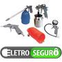 Kit De Pistolas De Pintura & Pulverização Para Compressor Ar