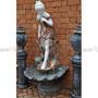 Escultura Fonte Ninfa Florença Marmore Carrara Colorido