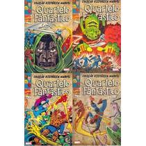 Coleção Histórica Marvel Quarteto Fantástico 01 A 04
