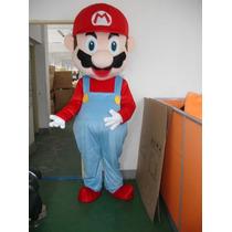Fantasia Mário Bros Profissional Mascote Adulto