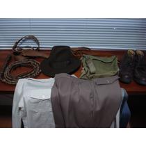 Calças Trousers Traje Fantasia Indiana Jones Original