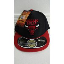 Boné Aba Reta Flex Snapback John Jonh Chicago Bulls Ajustáve