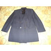 Blazer Valentino Uomo Azul Escuro Lã Tamanho 48 Como Novo