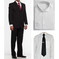 Kit Terno Oxford Camisa Gravata Prendedor, O Mais Barato!!!