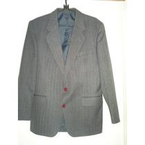Terno Masculino De Lã Cinza Tam. 50 L