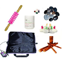 Kit Rolo Turbinada +pedras+pindas+bolsa Térmica+creme+bambu