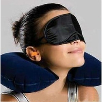 Almofada De Pescoço + Mascara + Protetor De Ouvido