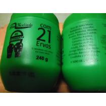 12 Frascos Creme Massagem Detonador 21 Ervas Sebo Carneiro