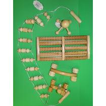 Massageador Costas Mãos Braços Pernas Modelo Manual Madeira