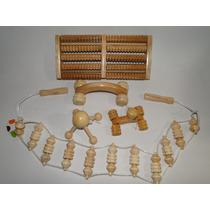 Massageador Cabeça Mãos Braços Pernas Modelo Manual Madeira