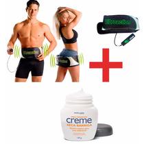 Vibroaction Cinto Massagem Eletrico + Creme Seca Barriga