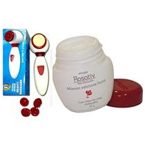 Aparelho Massagem Limpeza Facial + Creme Esfoliação 6 X 1