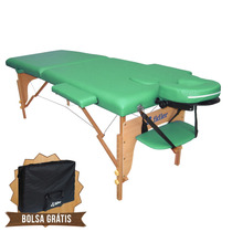 Mesa De Massagem Divã Cama Maca Portátil Cor Verde Salão