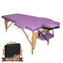 Mesa De Massagem Divã Cama Maca Portátil 2 Seções Cor Lilás