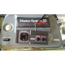 Master System 3 Com Sonic Na Memoria E Controle.
