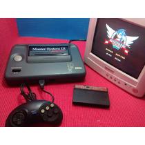 Master System 3 + Controle + Cabo Rf + Sonic Memória +jogo