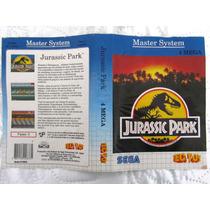 Encarte Jurassic Park - Tectoy - Complete A Sua Coleção
