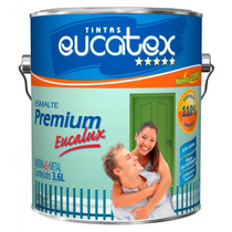 Tinta Esmalte Eucatex Branca Brilhante 3,6l. Madeira E Metal