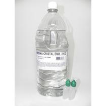 Resina Cristal Poliéster 2kg+catalisador - Molde Artesanato