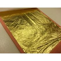 Folha De Ouro (imitação) Artesanato E Restauradores