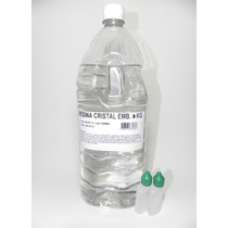 Resina Cristal Poliéster 3kg+ Catalisador - Molde Artesanato