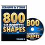 Dvd - 800 Figuras Prontas Para Silhouette Sd - Volume 2
