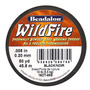 Wildfire Thermal Linha Colar Miçangas .2mm Preto 45 Metros