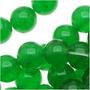 Miçangas Redondas 6mm Jade Verde Doce / Fio 39cm