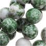 Contas Redondas Verdes 8mm Jade China Fio 39cm