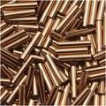 Contas Tubo Clarim Toho Tamanho 3 2x9mm Bronze 10 Gramas