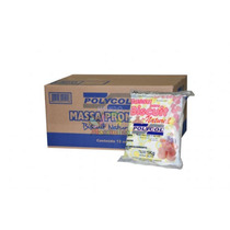 Cx Massa De Biscuit Polycol Natural 1kg /12 Un