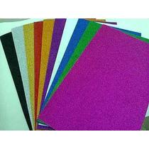 Folhas De Eva Com Glitter 40 Cm X60 Cm X2m.