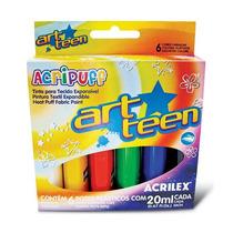 Tinta P/ Tecido Expansível Acripuff 20ml 6 Cores- Acrilex