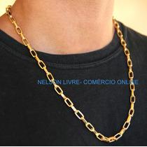 Conjunto Cordão + Pulseira 5mm Banhados Ouro - Fecho Gaveta