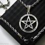Pentagrama Estrela Salomão Tetragrama Aço Conjunto Prateado
