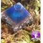 Orgonite Pirâmide Queops Azul
