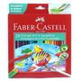 Lapis De Cor Faber Castell Aquarelavel 24 Cores Pincel Lc003