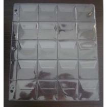 5 Folhas 20 Moedas Plástico Pvc 20 Com Aba (fm00a)