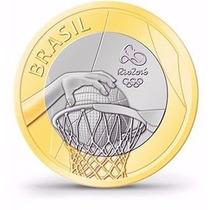 R$ 1,00 - Maravilhosa Moeda Comemorativa Olimpíadas Basquete