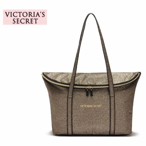 Bolsa Dourada Victoria Secrets : Maxi bolsa glamour academia viagem dourada victorias