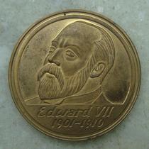 Inglaterra Medalha Edward V I I - 1901-1910 - Bronze - 38mm