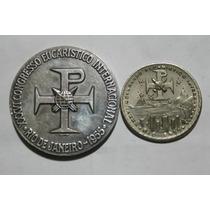 2 Medalhas Do 36º Congresso Eucarístico Internacional - 1955