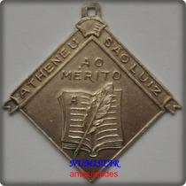 Antiga Medalha De Prata Atheneu São Luiz Objetos Antigos