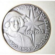 Medalha-prata-500 Anos Descobr.america-casa Da Moeda-50 Mm