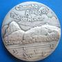 Medalha Prata-bondinho Pão De Açucar-1987-cert.c.m.b-75 Anos