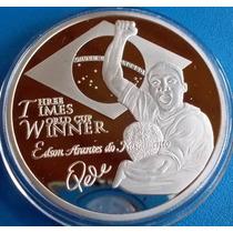 Pelé-santos-medalha Comemorativa-prateada-campeão Mundial