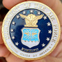 Us Air Force - Moeda Merdalha Poker Card Guard Banhada!